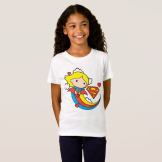 T-Shirt Arc-en-ciel de vol de Chibi Supergirl