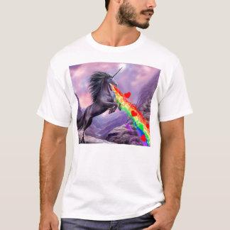 T-shirt ARC-EN-CIEL de vomi d'amour de licorne !