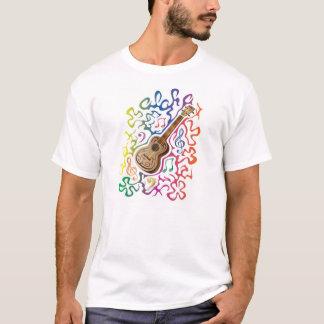 T-shirt Arc-en-ciel d'ukulélé