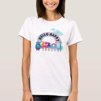 T-shirt Arc-en-ciel heureux des trolls |