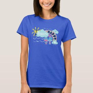 T-shirt Arc-en-ciel heureux rêveur des trolls   I
