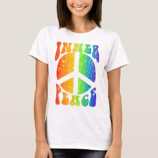 T-shirt Arc-en-ciel intérieur de paix