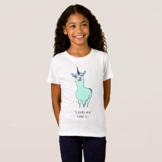 T-Shirt Arc-en-ciel Llamacorn à cornes