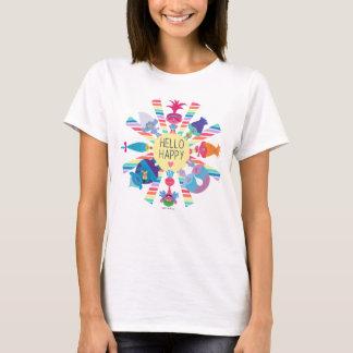 T-shirt Arc-en-ciel Sun de paquet de casse-croûte des
