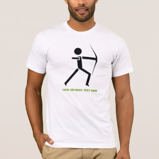 T-shirt Archer avec son noir d'arc, coutume verte de tir à