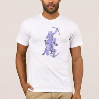 T-shirt Archer médiéval et arbalétrier - bleu