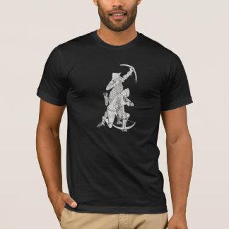 T-shirt Archer médiéval et arbalétrier - gris
