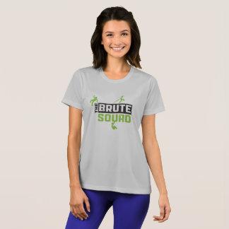 T-shirt Argent brutal de chemise de concurrent de peloton