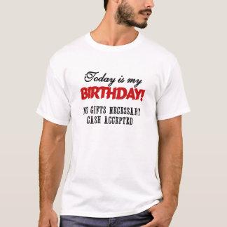 T-shirt Argent liquide d'anniversaire admis