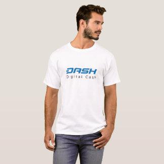 T-shirt Argent numérique de tiret