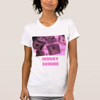 T-SHIRT ARGENT ROSE DOMME