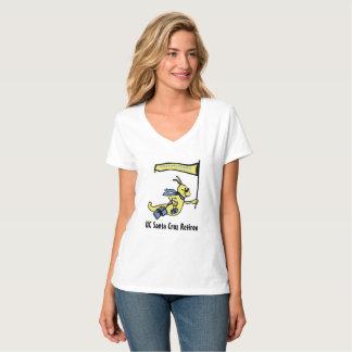 T-shirt argenté de V-Cou du lingot des femmes