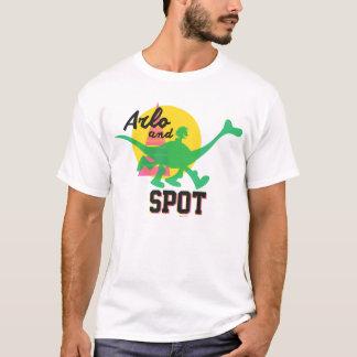 T-shirt Arlo et coucher du soleil de tache
