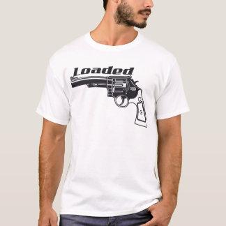 T-shirt Arme à feu chargée de main par l'encre de coutume