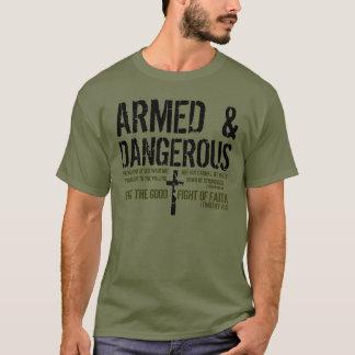 T-shirt armé et dangereux de vers de bible