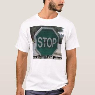 T-shirt arrêt-t, tout pour la paix
