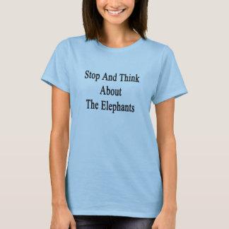 T-shirt Arrêtez et pensez aux éléphants