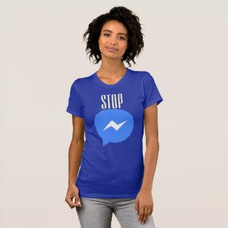 T-shirt Arrêtez la transmission de messages je
