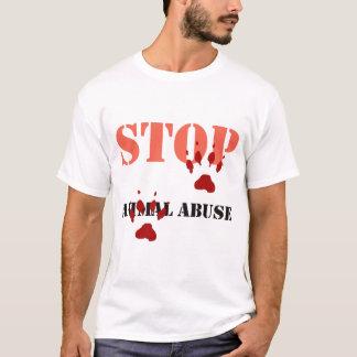 T-shirt arrêtez l'abus animal