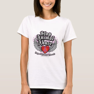 T-shirt Arrêtez les ailes animales d'abus