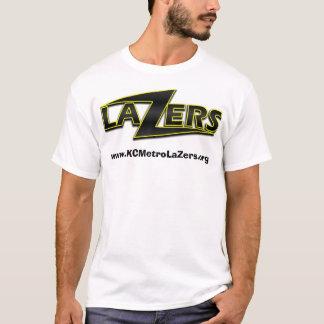 T-shirt Arrière - plan blanc de logo de LaZer,