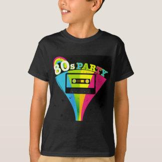 T-shirt arrière - plan de la partie 80s