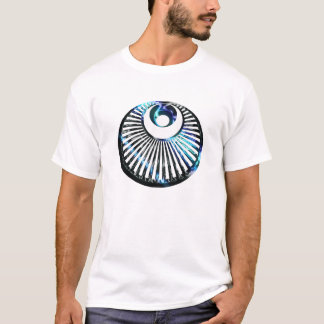 T-shirt Arrière - plan de lumière de cercle de culture