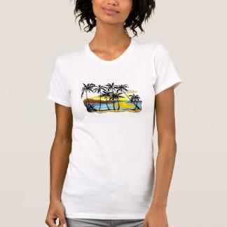 T-shirt Arrière - plan de palmier