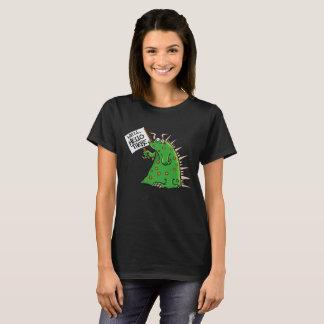 T-shirt Arrière - plan d'obscurité de Ladies'T-chemise de