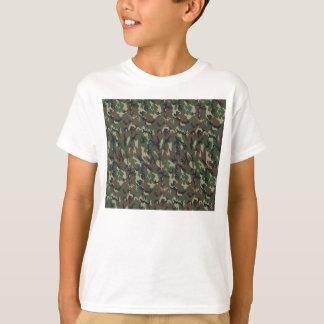 T-shirt Arrière - plan militaire de camouflage de forêt