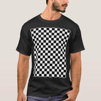 T-shirt Arrière - plan noir et blanc de damier