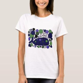 T-shirt Art abstrait bleu artistique de cachalot
