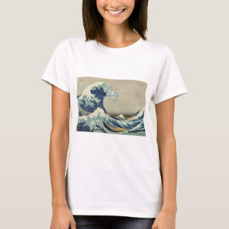 T-shirt Art asiatique - la grande vague outre de Kanagawa