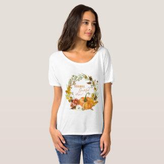 T-shirt Art béni reconnaissant reconnaissant de guirlande