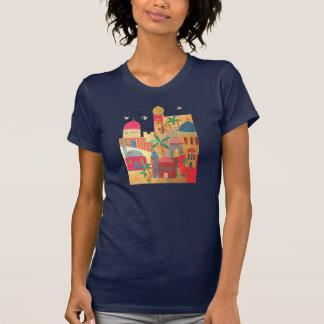 T-shirt Art coloré de ville de Jérusalem