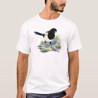 T-shirt Art curieux d'oiseau d'amusement de pie