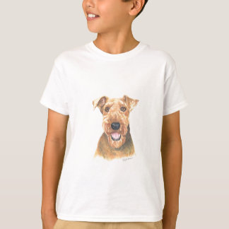 T-shirt Art d'Airedale Terrier