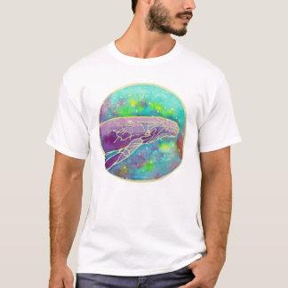 T-shirt Art de baleine de bosse de batik