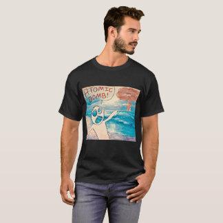 T-shirt Art de bande dessinée de bombe atomique