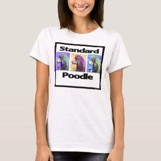 T-shirt Art de bruit de caniche standard