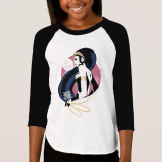 T-shirt Art de bruit de profil de femme de merveille de la