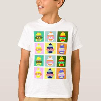 T-shirt Art de bruit de singe de chaussette