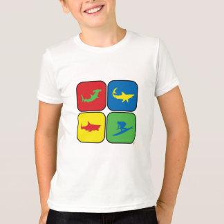 T-shirt Art de bruit de surfer et de requins