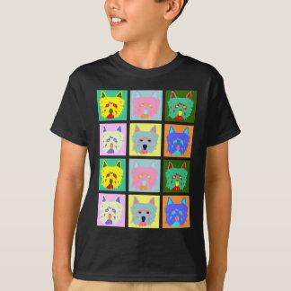 T-shirt Art de bruit de Terrier blanc de montagne