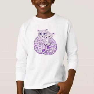 T-shirt Art de caresse de CUB de léopard de neige