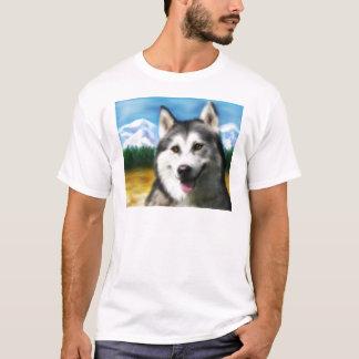 T-shirt Art de chien de chien de traîneau sibérien -