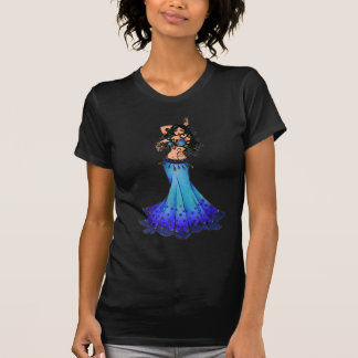 T-shirt Art de danseuse du ventre de Poissons