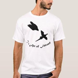 T-shirt Art de faucon pérégrin de fauconnerie