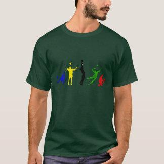 T-shirt Art de Mintonette d'équipe de volleyball de