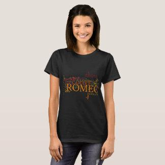 T-shirt Art de mot de Romeo et de Juliet